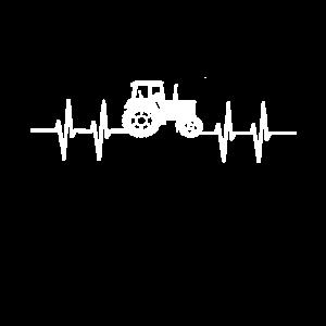 Herzschlag Traktor Bauer Bäuerin