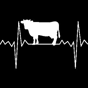 Herzfrequenz Herzschlag Kuh Kühe Bauer Geschenk