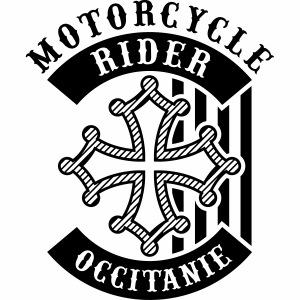Motorcycle Rider Occitanie 'Flag'