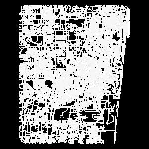 Minimaler Fort Lauderdale Stadtplan und Straßen