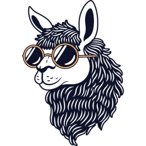 Alpaca Llama With Sunglasses