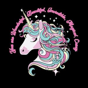 Unicorn Einhorn wundervoll magisch
