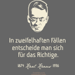 Zitat T Shirt Karl Kraus | In zweifelhaften Fällen
