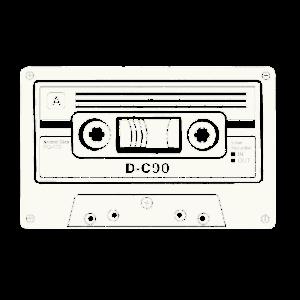 Kassette Tonband Audio Tape Retro Shirt