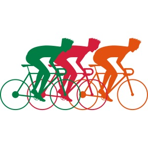 Cool nerd bicycle race design