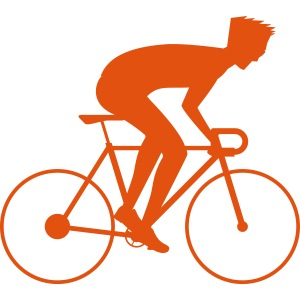 Cool bicycle racer