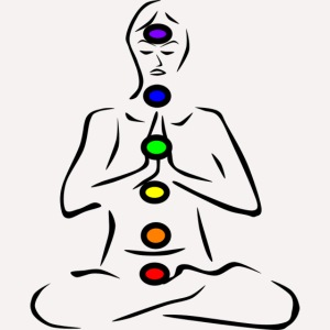 chakras illustrated for printing on apparel