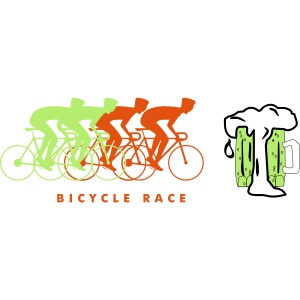 Cool bicycle racer beer design