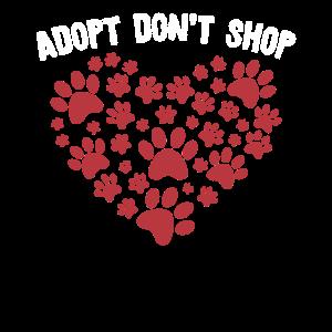 Adopt Don't Shop Adoption Katze Geschenk für Tierl
