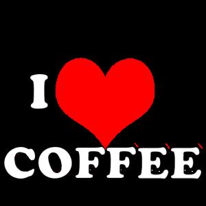 Weiße Beschriftung des Kaffeemotivs für Kaffeeliebhaber