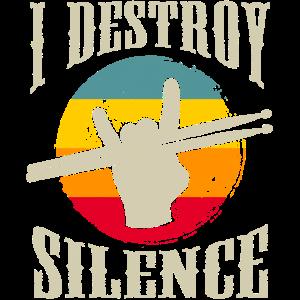 Destroy Silence Drum Sticks Drummer Schlagzeug