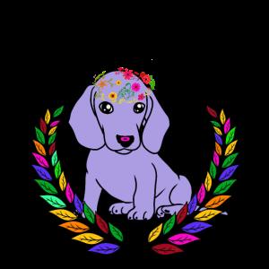Fantasy Hund Frühlingsgefühle Dackel Hunde