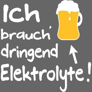 Lustiger Elektrolyte Bier Biertrinker Sport Spruch