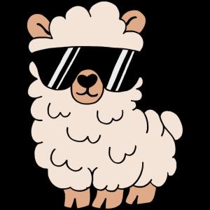 Lustiges Lama Alpaka