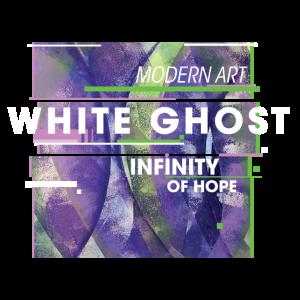modern art white ghost