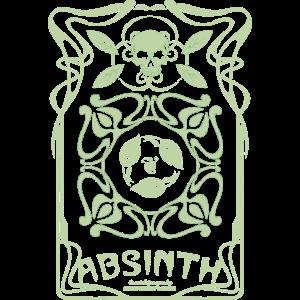 Absinth T Shirt La Fée Verte Art Nouveau Shabby