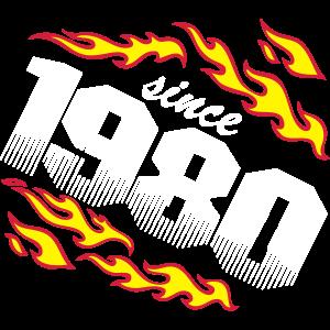 1980 Geburtstag Feuer und Flamme .../+