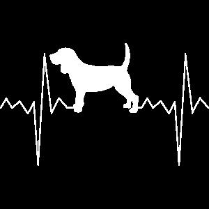Herzfrequenz Herzschlag Puls Beagle Hund Geschenk