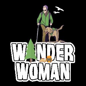 Wander Woman Wandern Outdoor Wanderung Geschenk