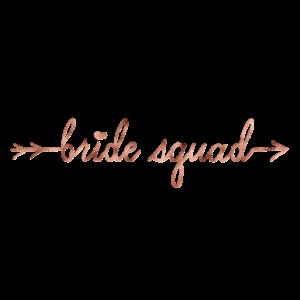 Bride Squad rosegold arrow