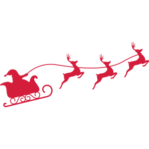 Weihnachtsmann Schlitten Silhouette, Pixellamb ™