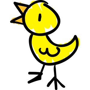 Bird Line Drawing Pixellamb