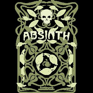 Absinth T Shirt Design Art Nouveau Jugendstil