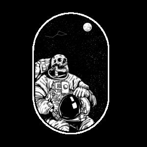 Totenkopf Astronaut - Dead in Space Weltraum Space