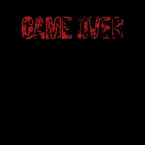 Gaming Game Over grunge blutig