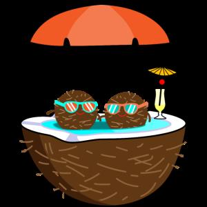 Sommer, Pool und Cocktail