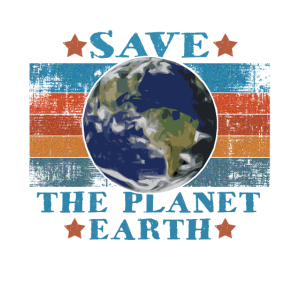 Vintage Retro Save The Planet Earth Rette die Erde