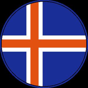 Island Flagge Rund, Pixellamb ™