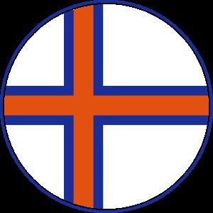 Färöer Inseln Flagge Rund, Pixellamb ™