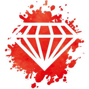 diamant klecks rot