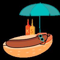 Bratwurst am Strand