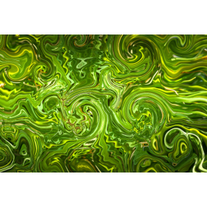 Psychedelic green poster