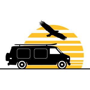 CAMPER BUS Wohnmobil Auto Sonne