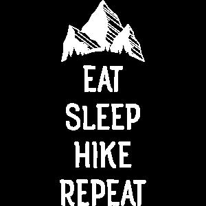 Eat Sleep Hike Repeat - Mountain Nature Hiking