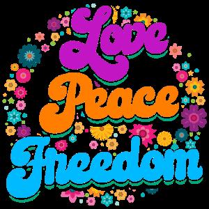 Hippie Outfit | Hippies Liebe Frieden Geschenkidee