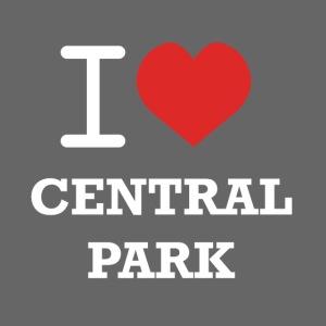 Musta t-paita I Love Central Park -logolla
