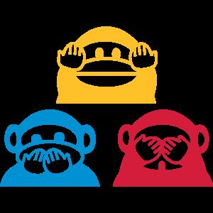 Drei Affen Dreieck