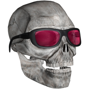 head with sunglasses