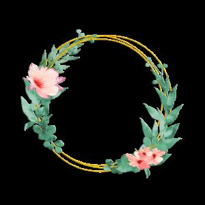 Magical flowers wreath