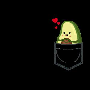 Avocado in Brusttasche