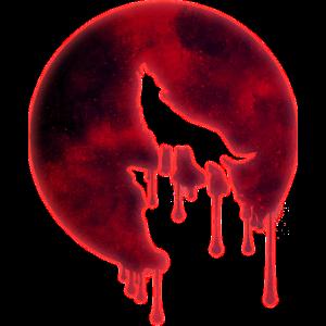 Blut Mond Heulender Wolf