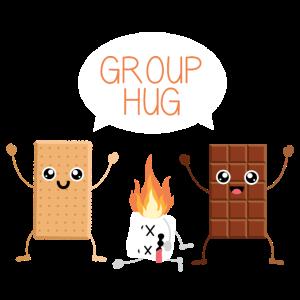 Gruppen Umarmung Kekes Schokolade Marshmallow