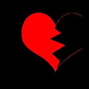 Partnerlook Herz linke Seite GRUNGE
