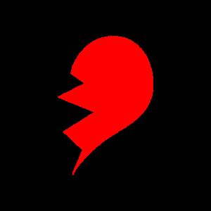 Partnerlook Herz rechte Seite GRUNGE
