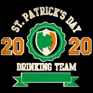 St Patricks Day drinking Team 2020 Irisch Bier