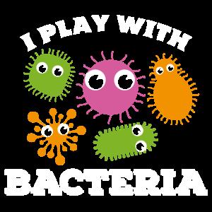 Ich spiele mit Bakterien Labor Techniker Laborant